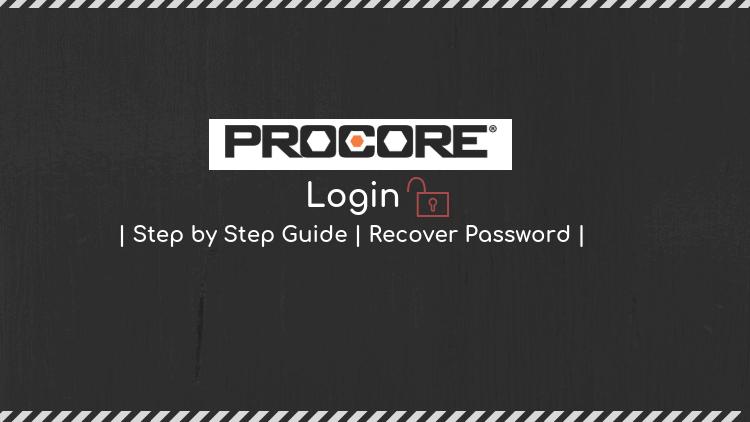 procore password recovery