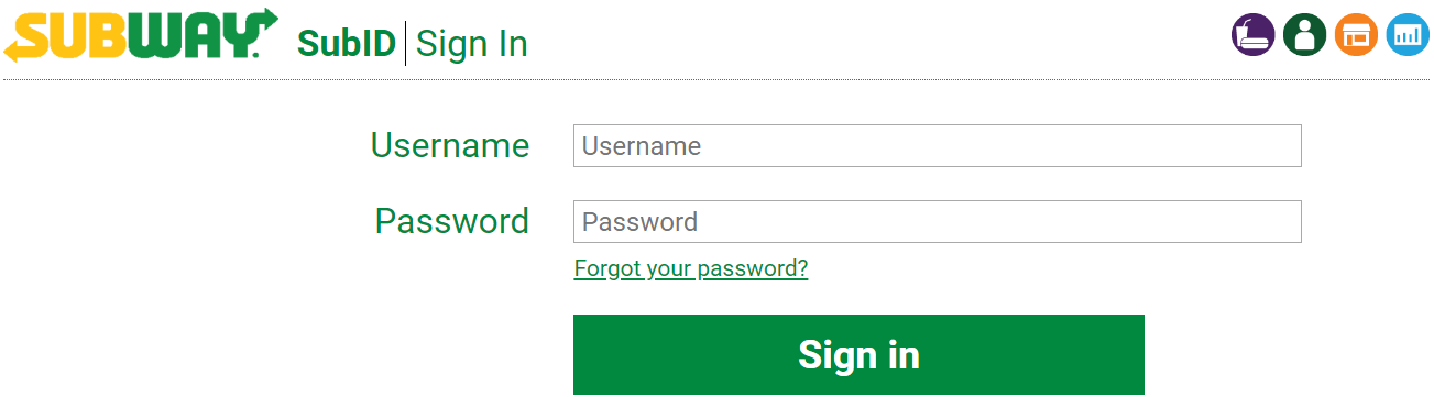 subway partners login
