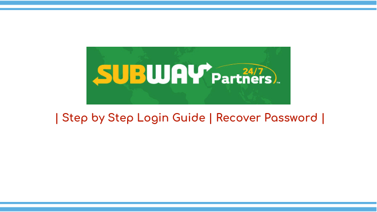Subway partners login guide