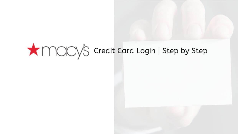 macys card login