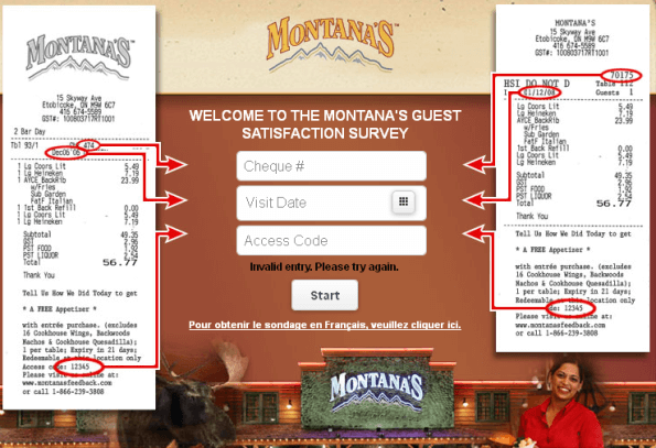 montanas guest satisfaction survey