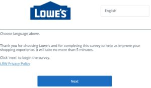 lowes satisfaction survey