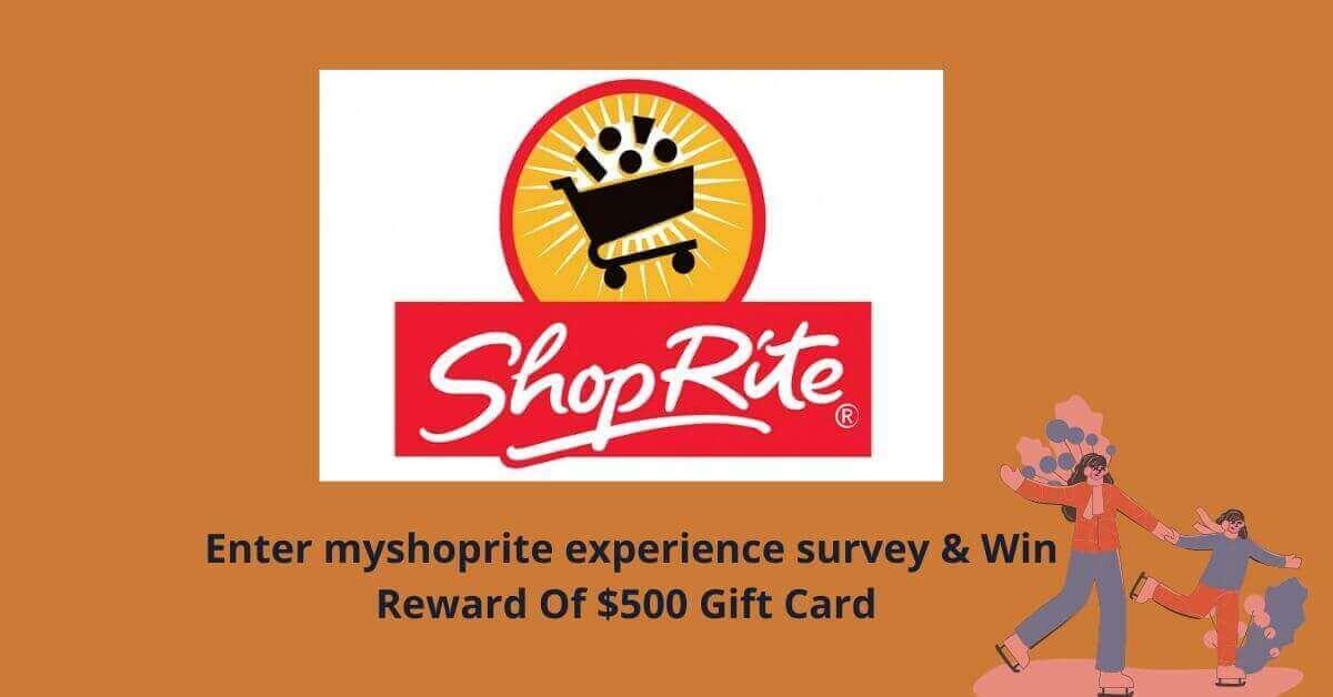 myshoprite experience survey