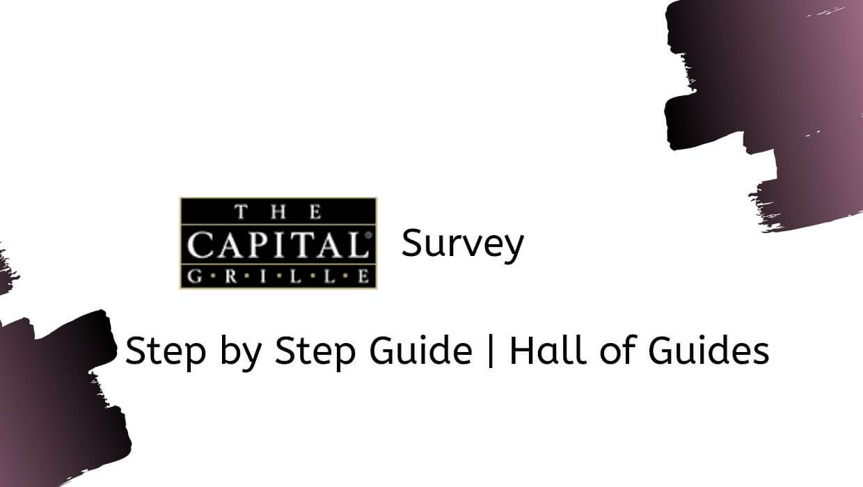 the capital grille survey