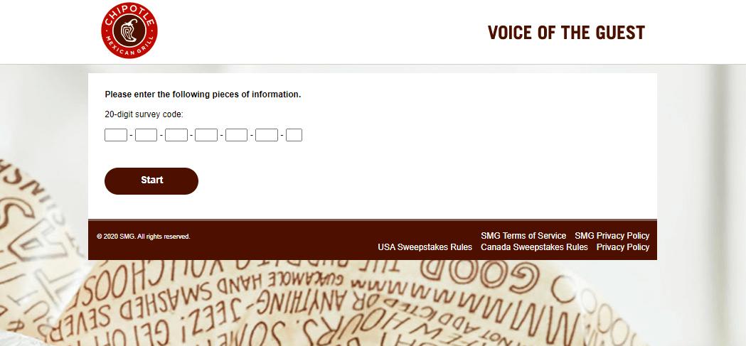 chipotlefeedback survey