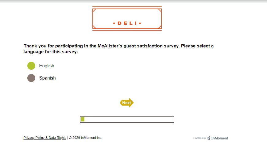 mcalisters survey