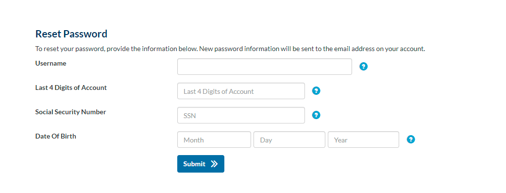 Indigo password resetting