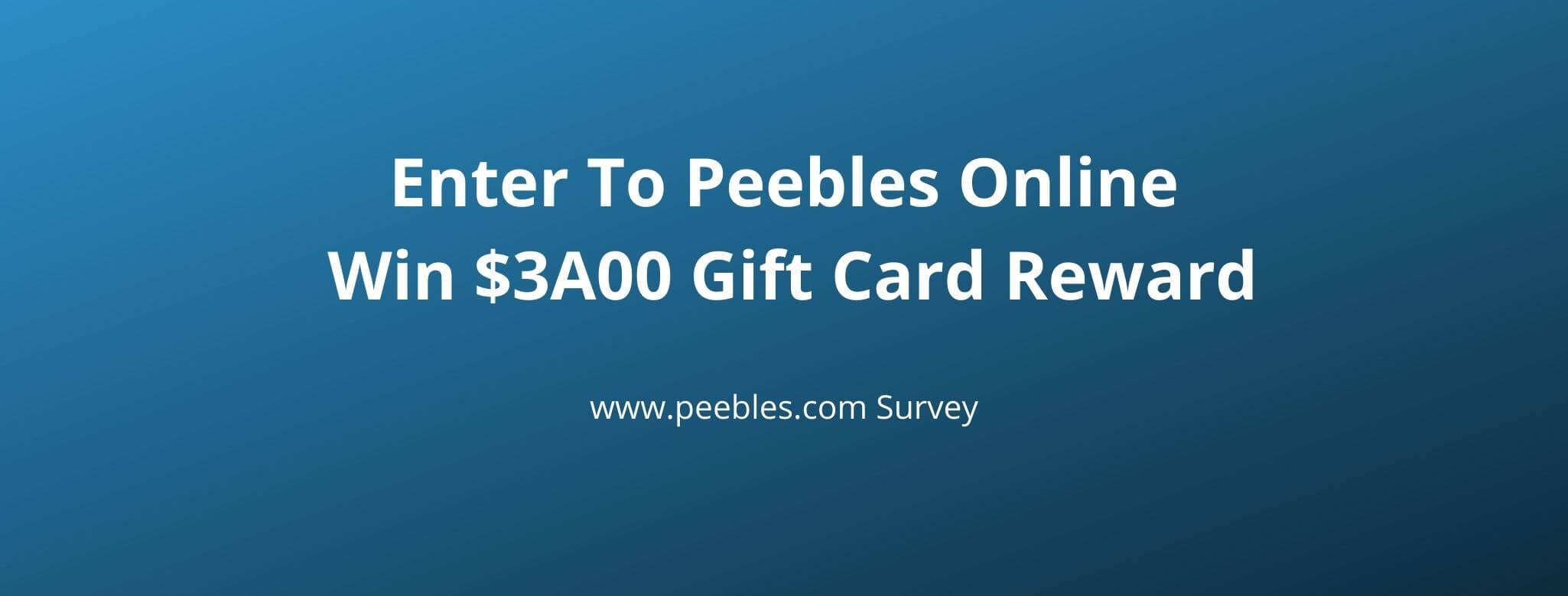 peebles store survey